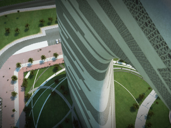 Transparent House-Crescent Moon Tower-dubai